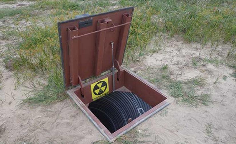 Бункер на открытом месте