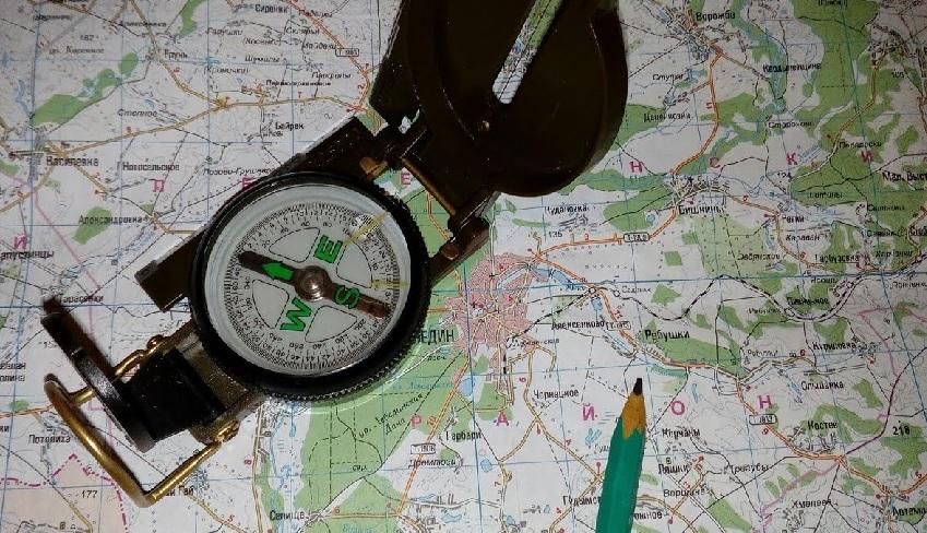 Ориентирование на местности по карте и компасу